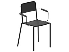 Sedia in metallo verniciato con braccioliGINGER 2018 | Sedia con braccioli - ZEUS