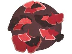 Tappeto a fiori rotondo in lanaGINKGO | Tappeto rotondo - TOULEMONDE BOCHART