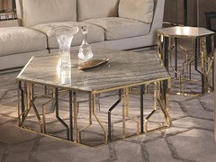Tavolino esagonale in marmo GINZA | Tavolino in marmo - Loveluxe