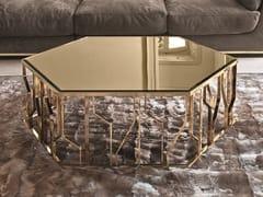 Tavolino esagonale in vetro a specchio GINZA | Tavolino in vetro a specchio - Loveluxe