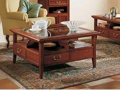 Tavolino in legno massello con vano contenitoreGIOTTO | Tavolino quadrato - ARVESTYLE