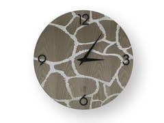 Orologio da parete in legno intarsiatoGIRAFFE COLD | Orologio - LEONARDO TRADE