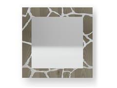 Specchio quadrato da parete con cornice GIRAFFE COLD | Specchio - DOLCEVITA ANIMALIER