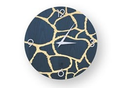 Orologio da parete in legno intarsiato GIRAFFE COLORS | Orologio - DOLCEVITA ANIMALIER