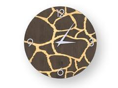 Orologio da parete in legno intarsiato GIRAFFE WARM | Orologio - DOLCEVITA ANIMALIER
