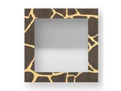 Specchio quadrato da parete con cornice GIRAFFE WARM | Specchio - DOLCEVITA ANIMALIER