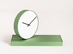 Orologio da tavolo con speccho in acciaio verniciatoGIRATEMPO - FORMAE | CAR-MET