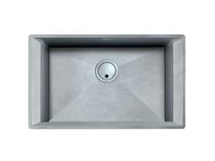 Lavello a una vasca sottotop in acciaio inoxGK 630X400 H195 S/TOP VINTAGE - FOSTER