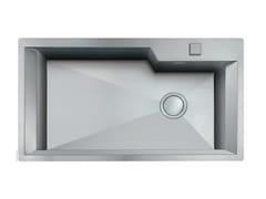 Lavello a una vasca filo top in acciaio inoxGK 730X400 H.235 FT INOX - FOSTER