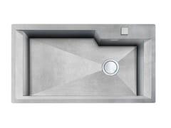 Lavello a una vasca filo top in acciaio inoxGK 730X400 H.235 FT VINTAGE - FOSTER