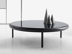 Tavolino rotondo in vetro MARU | Tavolino in vetro - Maru