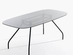 Scrivania / tavolo da riunione in vetroSEMPIONE | Scrivania in vetro - IOC PROJECT PARTNERS