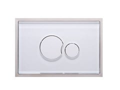 Placca di comando per wc in vetro GLASS P2VB706 - REDI