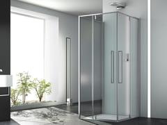 Box doccia quadrato in vetro con porta scorrevoleZEN   Box doccia in vetro - MEGIUS