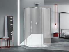 Box doccia rettangolare in vetro con porta scorrevoleZEN XL | Box doccia in vetro - MEGIUS