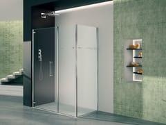 Box doccia angolare in vetro con porta a battentePRISMA 1.0 | Box doccia in vetro - MEGIUS