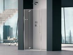 Box doccia a nicchia in vetro con porta a battentePRISMA 2.0 | Box doccia in vetro - MEGIUS