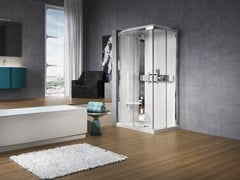 Box doccia rettangolare con idromassaggio GLAX A 100X70 - Glax