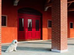Porta d'ingresso blindata in legno con pannelli in vetroEVOLUTION | Porta d'ingresso con pannelli in vetro - OIKOS VENEZIA