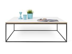 Tavolino rettangolare in truciolare GLEAM | Tavolino rettangolare - Gleam