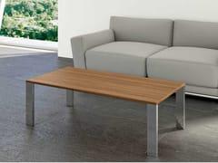Tavolino basso rettangolare in noceGLIDER | Tavolino rettangolare - BRALCO