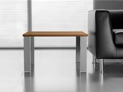 Tavolino basso quadrato in noceGLIDER | Tavolino quadrato - BRALCO