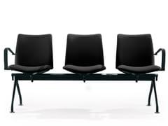Seduta su barra a pavimento in tessuto con braccioliGLOBAL | Seduta su barra - ENEA