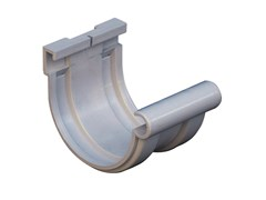 Giunto semplice bi-system per canale di gronda in PVC grigioGN116N - FIRST CORPORATION