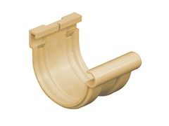 Giunto semplice bi-system per canale di gronda in PVC sabbiaGN116S - FIRST CORPORATION