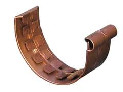 Accessorio per canale di gronda effetto ramato GNE125R - First Plast