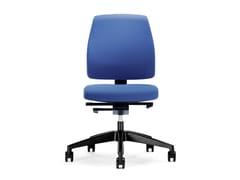 Sedia ufficio operativa ergonomica in tessuto con ruote GOAL 102G | Sedia ufficio operativa - Goal