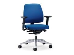 Sedia ufficio operativa ergonomica in tessuto con ruote GOAL 102G | Sedia ufficio operativa con braccioli - Goal