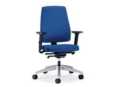 Sedia ufficio operativa ergonomica girevole in tessuto GOAL 152G - Goal