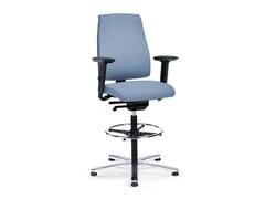 Sedia ufficio operativa ergonomica girevole in tessuto GOAL 195G - Goal