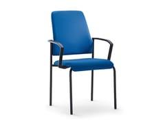 Sedia imbottita impilabile in tessuto con braccioli GOAL 450G - Goal