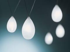 Lampada a sospensione a LED fatta a mano in vetro borosilicatoGOCCIA - ALBUM ITALIA