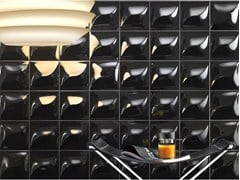 LEA CERAMICHE, GOCCIA BLACK Rivestimento tridimensionale in ceramica a pasta bianca