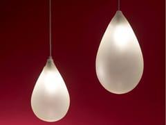 Lampada a sospensione a LED fatta a mano in vetro borosilicatoGOCCIA XL - ALBUM ITALIA