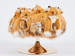 Pouf imbottito rotondo in poliestereGOLDEN FOX | Pouf - APCOLLECTION
