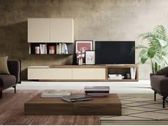 Mobile TV basso in legno con libreriaGOLF L.101 - COLOMBINI