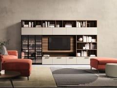 Mobile TV in legno con libreriaGOLF L.105 - COLOMBINI