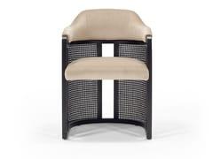 Sedia in tessuto con braccioli e inserti in paglia di ViennaGRACE VINTAGE   Sedia imbottita - TRIPLEX INTERIORES