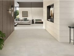 Pavimento/rivestimento in ceramica a pasta bianca effetto cementoGRAND CONCRETE - RECER