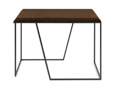 Tavolino a slitta quadrato in sughero e acciaioGRÃO #2 - GALULA