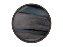 Vassoio rotondo in legno e vetroGRAPHIC ORGANIC - ROUND L - ETHNICRAFT