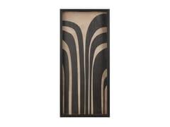 Vassoio rettangolare in legnoGRAPHITE CURVES - NOTRE MONDE