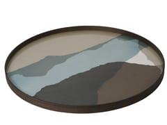 Vassoio rotondo in vetro GRAPHITE WABI SABI | Vassoio rotondo - Wabi Sabi