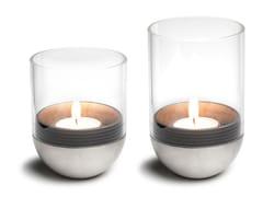 Portacandele da tavolo in vetro e metallo GRAVITY CANDLE -