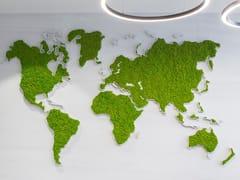 Cartina geografica in muschio e piante stabilizzateGREEN WORLD - GREENAREA