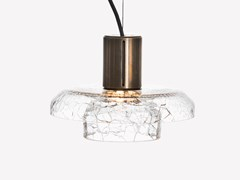 Lampada a sospensione a LED in vetro soffiatoGREENWAY CRACKLE S2 - ADESIGNSTUDIO